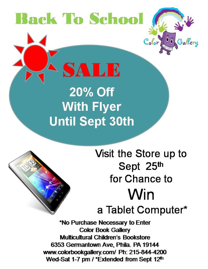 Sale Sign - School tablet